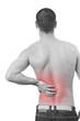 man having a back pain