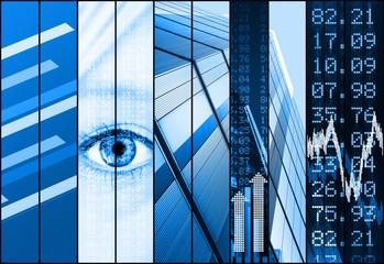 stock market collage