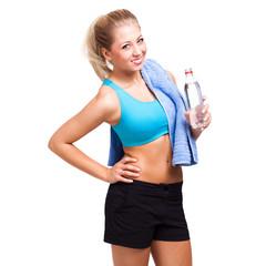 Sportlerin nach dem Training
