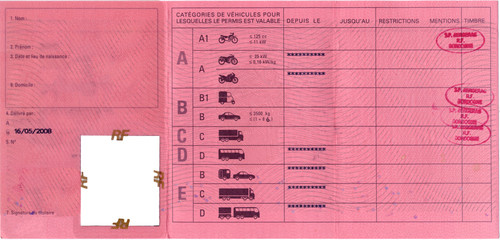 french driving license