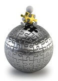 3d small people - puzzle sphere