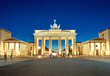 canvas print picture - The illiminated Brandenburg Gate at dawn