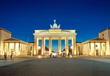 Fototapety The illiminated Brandenburg Gate at dawn