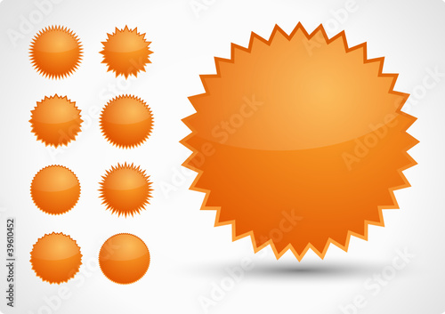 Button Set Orange