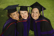 Three female graduates