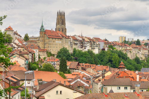 old town of Fribourg, Switzerland