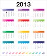 2013 colorful calendar_it