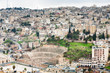 ancient Roman theater in Amman , Jordan