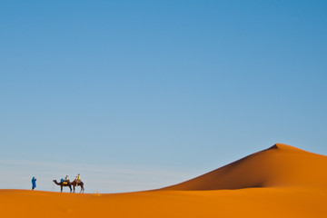 Tourists in the desert
