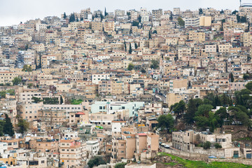 panorama of old town Amman, Jordan