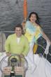 Couple enjoying their sailboat