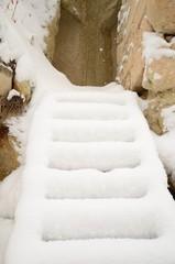 steps under snow