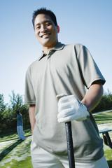 Portrait of male golfer