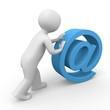 3d Männchen rollt ein email Symbol
