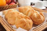 Fresh buttery croissants
