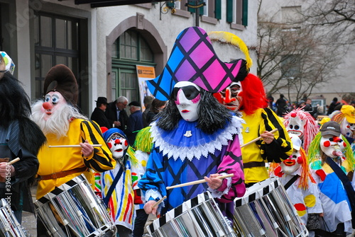Colourful Masks, Riehen Carnival, Switzerland