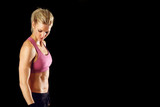 Sexy fitness woman isolated