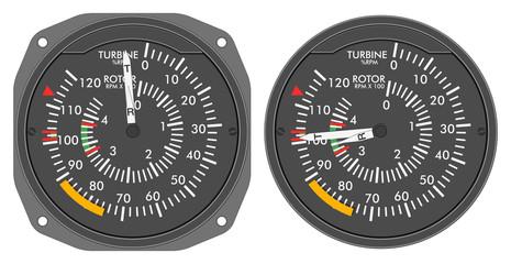 Aircraft indicators 4 - 480B dashboard set
