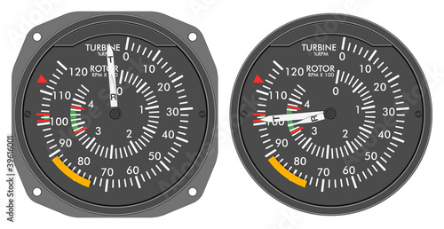 Aircraft indicators 4 - 480B dashboard set