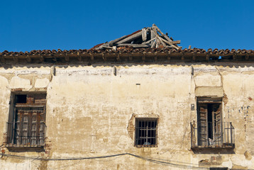Abandoned rural house in ruins, Spain