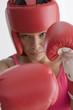Portrait of woman in boxing gear
