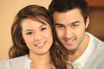 Portrait of a multiracial couple