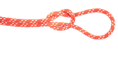 red rope loop and knot