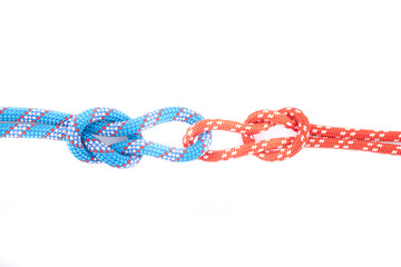 blue and red rope knots and loops