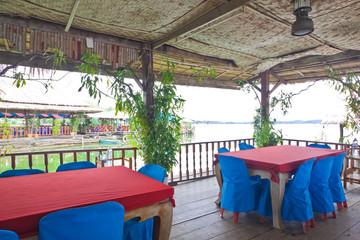 Shelter on floating restaurant