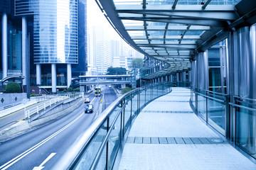 footbridge in hongkong