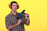 Man holding power drill