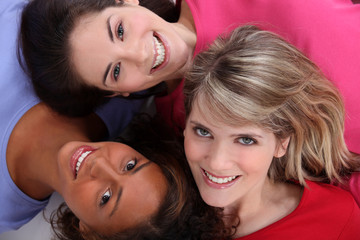 Multiracial friends