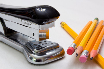 Stapler and Pencils