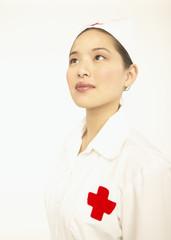 Female nurse posing for the camera