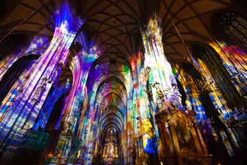 Interior of St. Stephen's Cathedral.  Vienna