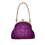 PURPLE HANDBAG(EPS 8) Isolated on white background
