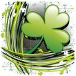 Trifoglio Sfondo Design St Patrick's Day on Grunge Background