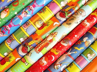wrapping paper for the celebration of Sinterklaas
