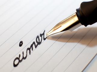aimer écriture stylo plume