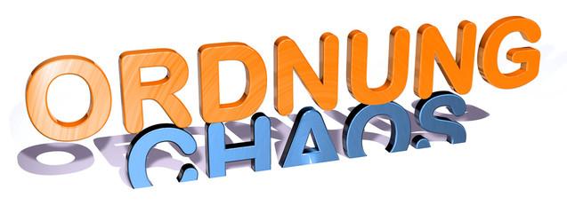 3D Gegensätze - ORDNUNG - CHAOS