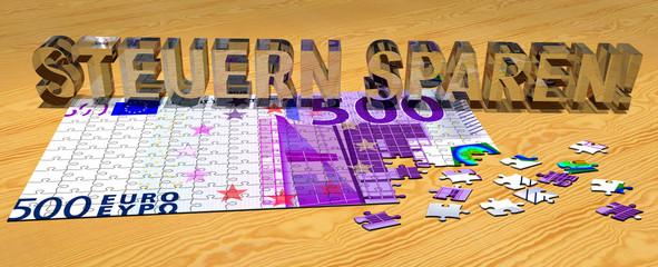 3D Puzzle - STEUERN SPAREN