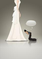 Dachsund and Bride