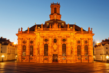 Ludwigskirche blaue Stunde