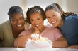 Women celebrating a birthday