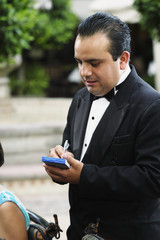 Waiter taking orders at a restaurant