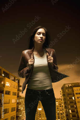 Young woman posing for the camera