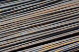 steel rebar in pile up poster