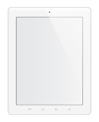 Tablette tactile blanche éditable