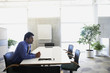 Indian businessman at desk