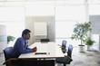 Indian businessman at desk